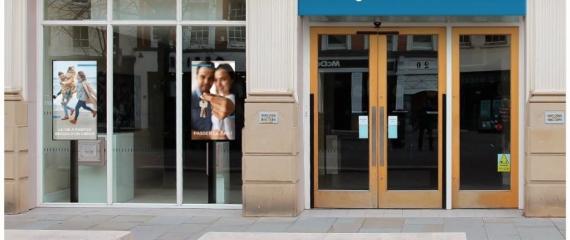 Ecrans vitrines pour les banques et assurances