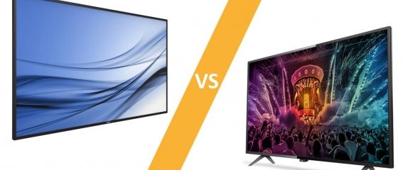 Moniteurs professionnels et téléviseurs : Comparatif
