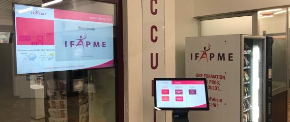 Mise en place d'un système de gestion de file d'attente à l'IFAPME de Charleroi