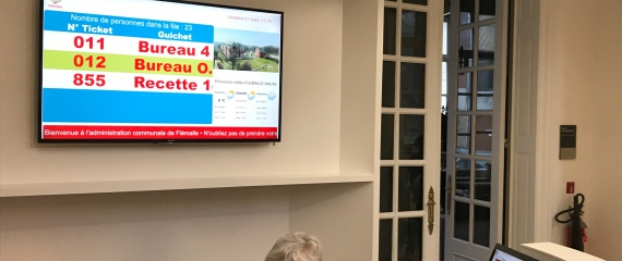 La Ville de Flémalle s'équipe d'un système de gestion de files d'attente
