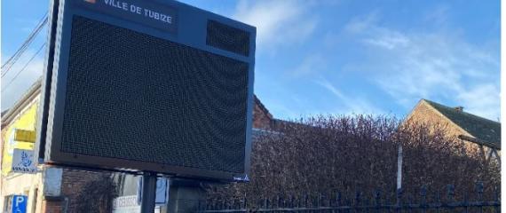 De nouveaux écrans led outdoor pour la communication dans la ville de Tubize