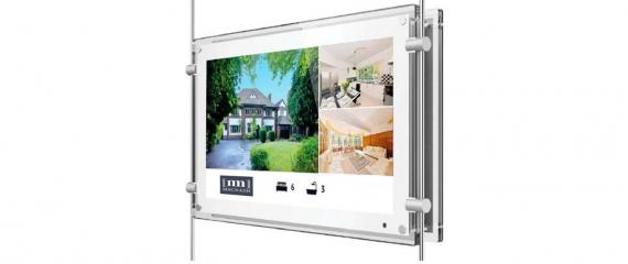 Nouveauté: Ecran vitrine 15'' pour agences immobilières & agences de voyages
