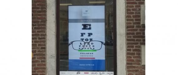 Ecran Vitrine Opticien Espace Vision à Fosses-La-Ville