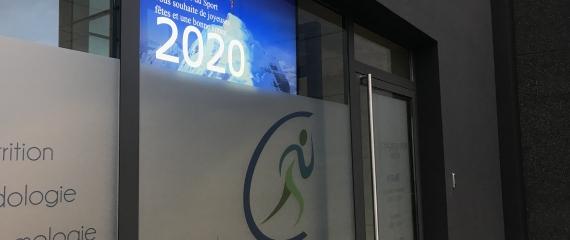 La Clinique du sport de Namur s'équipe d'un écran vitrine!