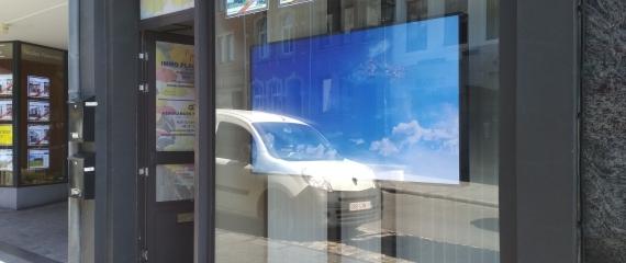 Ecran vitrine agence immobilière Bastogne