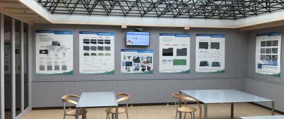 Placement de nouveaux écrans chez Circuit Foil Luxembourg