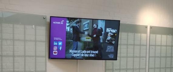 Les 3 maisons du notariat du Hainaut s'équipent d'écrans d'affichage dynamique