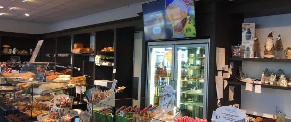 Ecrans d'affichage au sein de 4 pâtisseries - boulangeries dans la région de Ciney / Dinant