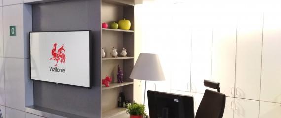 6 écrans d'affichage pour la communication interne et vers les visiteurs - SPW