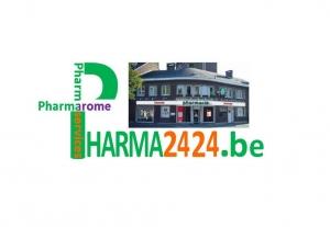 Un écran vitrine ultra haute luminosité en vitrine à Charleroi chez Pharma2424 - Expansion TV affichage dynamique digital signage - Références