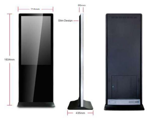 Totem (borne) tactile Appolo 43'' - 49'' - 55'' pouces - Expansion TV  - Affichage dynamique