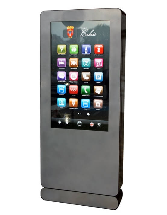 Totem Tactile ou non tactile  49'' - 55'' Outdoor - 2000cd/m² - Expansion TV  - Affichage dynamique