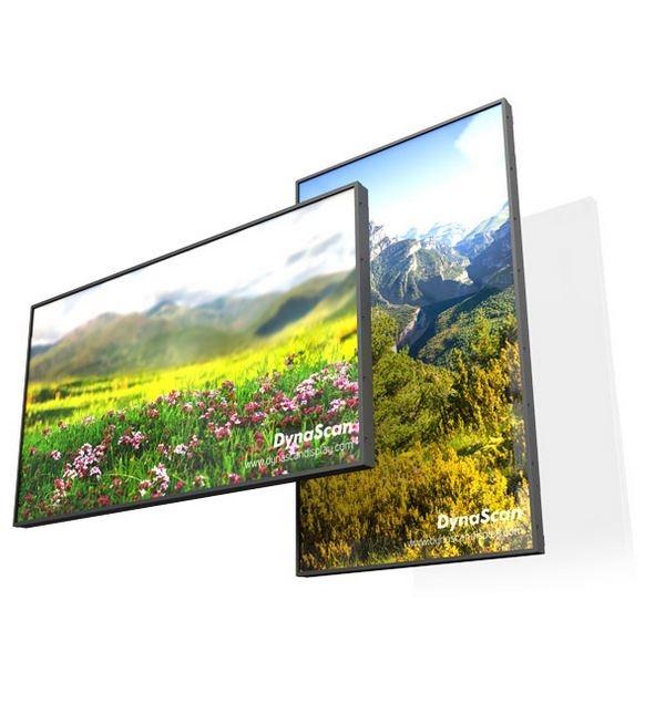 ECRAN VITRINE HAUTE LUMINOSITE 5500cd/m² - 55'' - Dynascan - Expansion TV  - Affichage dynamique