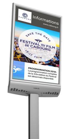PANNEAU - ECRAN LED LUMINEUX D'EXTERIEUR - SPHINX 4 Couleur HD - Expansion TV  - Affichage dynamique