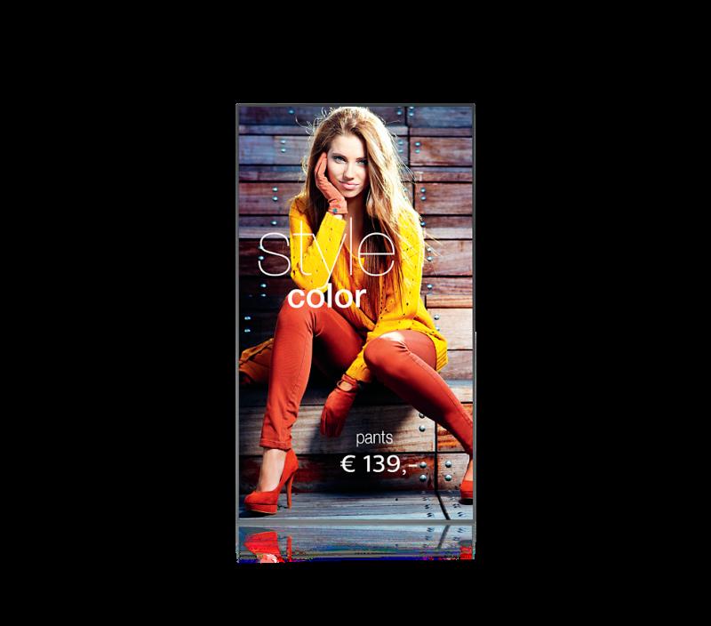 ECRAN VITRINE H-LINE 75'' (190 cm)  - Expansion TV  - Affichage dynamique