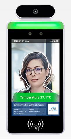 Thermomètre reconnaissance faciale et détection masque avec écran 8
