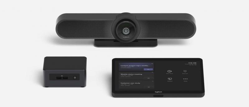 Logitech - Solution complète pour salle de réunion avec Miscrosoft Teams ou Zoom - Expansion TV  - Affichage dynamique