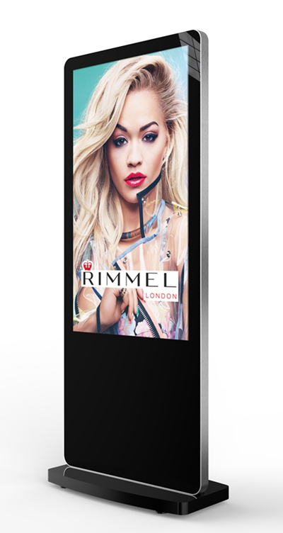 Totem Indoor non tactile 50'' Android - blanc ou noir - Expansion TV  - Affichage dynamique