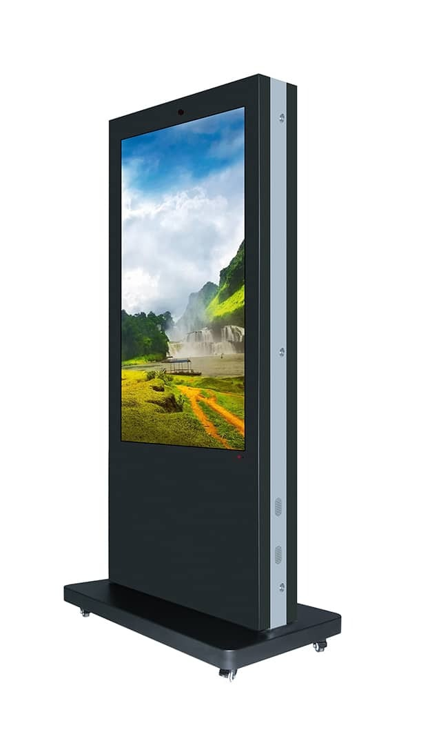 TOTEM TACTILE DOUBLE 65'' (165 cm) - APPOLON - Expansion TV  - Affichage dynamique