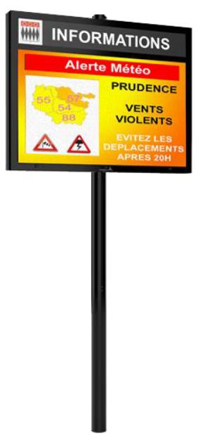 PANNEAU - ECRAN LED LUMINEUX EXTERIEUR - FENIX RGB COULEURS HD - Expansion TV  - Affichage dynamique